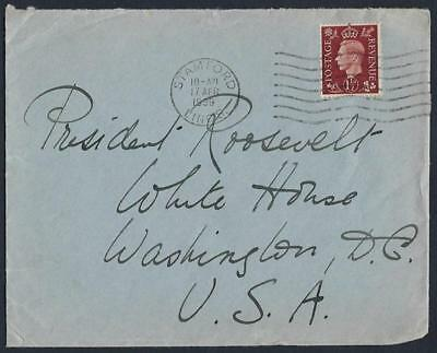 Uk Gb Us 1939 From The Private Collection Of President Franklin Roosevelt Samfor