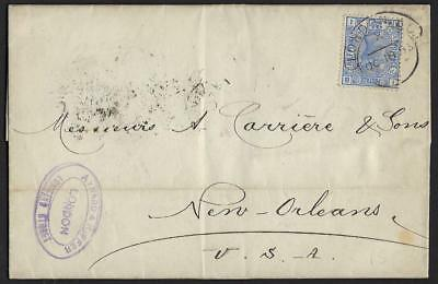 Uk Us 1883 Sg 142 Tied London Oc 18 83 To New Orleans Via New York Paid All On R