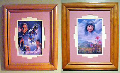 2 Framed & Matted Native American Indian Prints