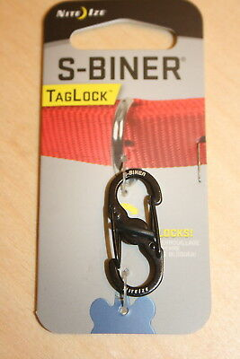 S-Biner Pet Dog Tag Holder Double-Gated Carabiner with Lock Silver or Black