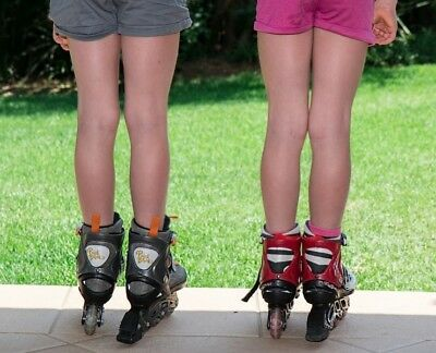 A Pair Of Children's Roller Blades - Unisex - Good Condition - Highlight Green