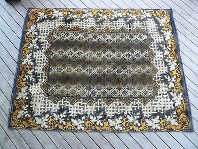 """Antique 'CHASE' All Wool Sleigh Lap Blanket, Large  54"""" x 67"""""""
