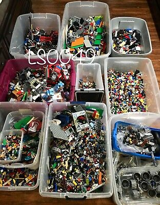 Clean 100% Genuine LEGO 5 LB Lots Pounds Bulk Lot Cleaned Sanitized STEM