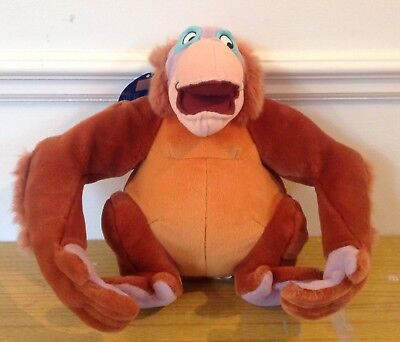 "Disney Jungle Book King Louie Soft Toy Ape Monkey Orange Plush Monkey 14"" NWT"