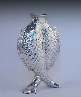 Christofle France Silverplate Deux Poissons Two Fish Vase Free Shipping