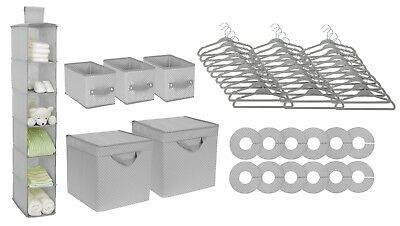 Baby Kids Nursery Storage Delta Children 48 Piece Set Dove Grey NEW Set Bundle