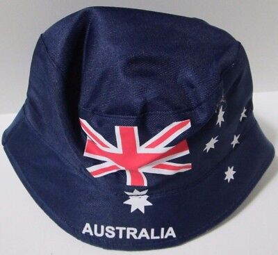 adults aussie,aussie,aussie, australia day flag design bucket hat anzac day