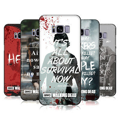 Official Amc The Walking Dead Quotes Black Soft Gel Case For Samsung Phones 1