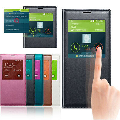 S-View Leather Waterproof Flip Chip Smart Wake Case Cover for Samsung Galaxy S5