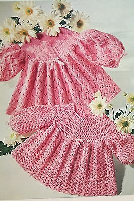 Baby's Angel Tops Knitting and Crochet Pattern (MC005)
