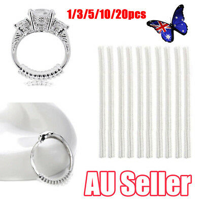 1-20 Ring size reducers Spiral Invisible Snugs Guard RESIZER ADJUSTERS TOOLS ON