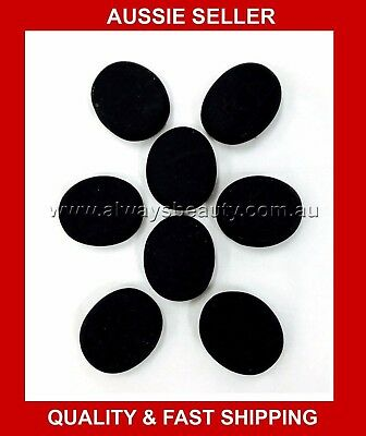 8Pcs HOT STONE 120g Each 5cm x 6cm x 1.5cm NATURAL BASALT STONES HOT MASSAGE