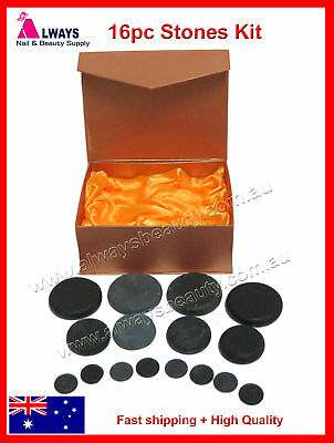 HOT STONE MASSAGE KIT Basalt Stones FOR SPA HOT MASSAGE TREATMENT