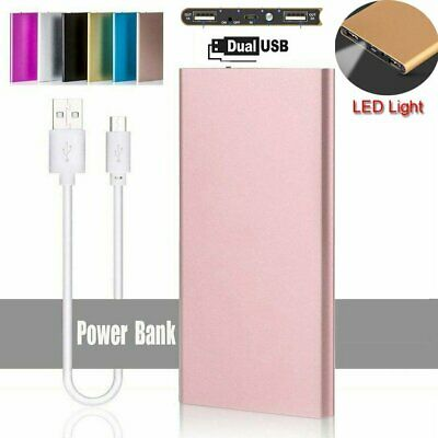 Portable 20000mAh Battery Charger Power Bank LED Dual USB For Mobile Phone