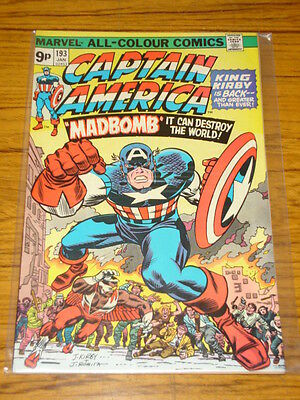 Captain America #193 Fn (6.0) Marv Falcon Kirby Begins