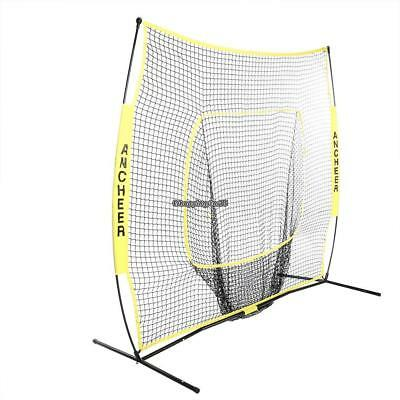 7 x 7ft Baseball Softball Practice Net with Bow Frame EH7E