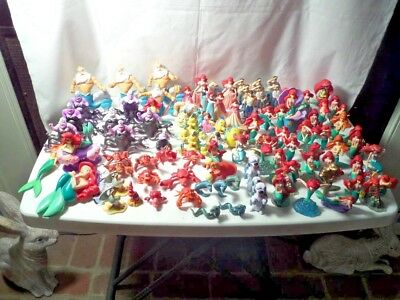 Huge Lot Of 100+ Disney Ariel Figures - Cake Toppers