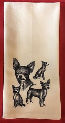 Chihuahua Smooth, Kitchen Tea Towel, Embroidered, Custom, Personalized