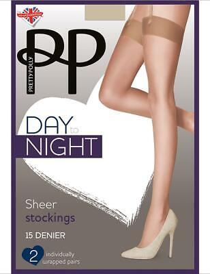 Pretty Polly Day To Night 15 Denier Stockings - 2 Pack