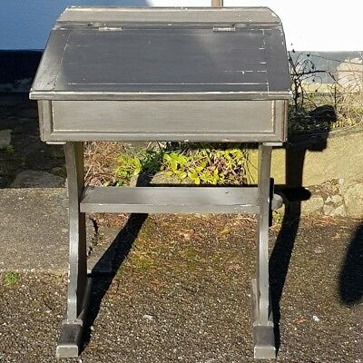 An Old Vintage/Antique Painted Childs/Small Single School Desk with Lift Up Lid