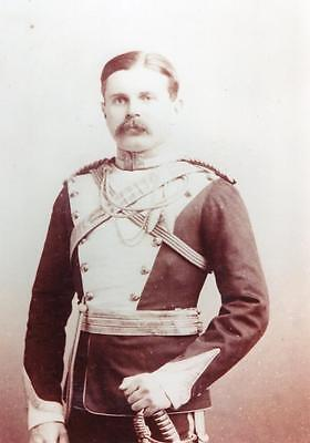 17th Lancers Captain Marrver in Full Dress 1890 Photograph Military