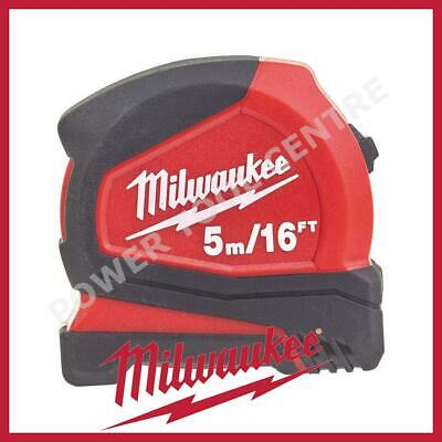 Milwaukee 4932459595 Pro Compact Tape Measure 5m/16ft Jobsite Durable C5-16/25