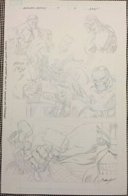 Avengers Assemble issue 4 page 4 Thanos! Original Comic Art Mark Bagley Infinity