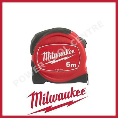 Milwaukee 48227706 Pro Compact Tape Measure 5m Jobsite Durable S5/25 Red / Black