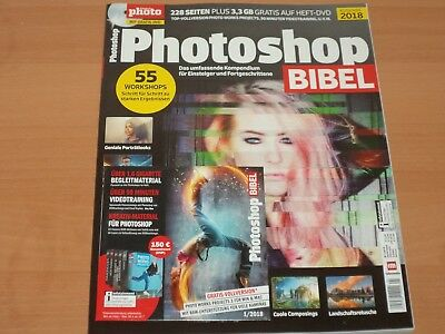 "Digital Photo 228 Seiten ""Photoshop Bibel 2018"" + DVD 3,3 GB ungelesen!"