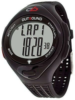 Outbound 10-Lap Sports Water Resistant Fitness Running Watch Activity Tracker -