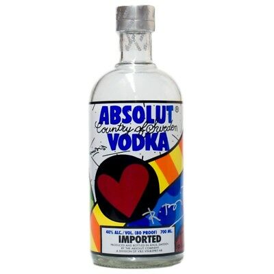 Absolut Britto 700ml handsigniert leer