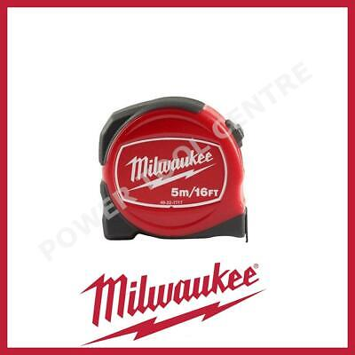 Milwaukee 48227717 Pro Compact Tape Measure 5m/16ft Jobsite Durable S5-16/25