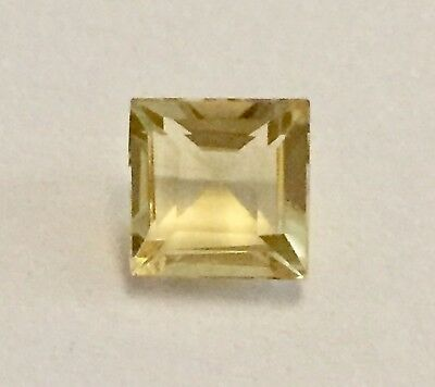 Citrine Gemstone Square Cut 6 mm  Natural Citrine Loose Gemstone.