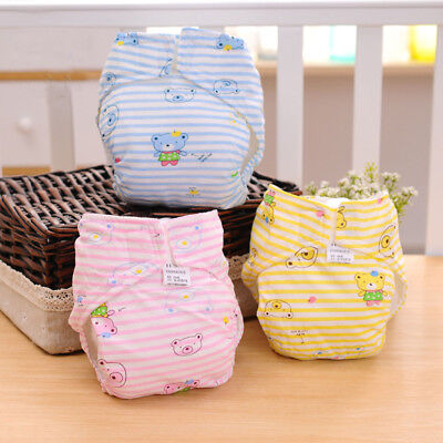 Pocket 1 Pcs Stay Dry Baby Nappy Cotton Cloth Diaper Cover Wrap Reusable