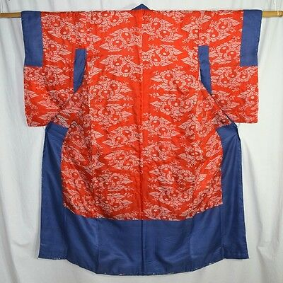 "Antique Vintage Japanese Donuki Kimono Robe Woman's Silk ""Feather Light"""