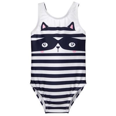 NWT Gymboree Racoon Fairytale Forest Girls Striped Swimsuit 2T 3T 4T 5T