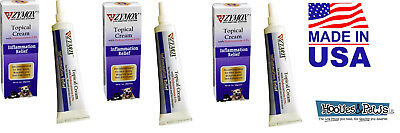 Zymox Topical Cream Dog Cat Pet Hot Spots and Skin Infections Relief 1 oz 3 PACK