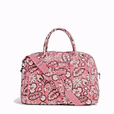 New Vera Bradley Weekender Travel Carry On Bag in Blush Pink