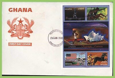 Ghana 2000 Sydney Olympic Games m/s First Day Cover