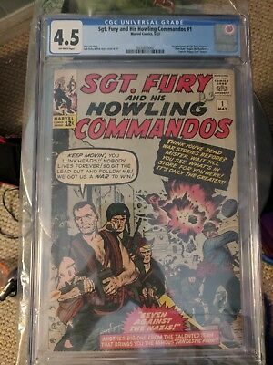 Sgt. Fury and his Howling Commandos 1 CGC 4.5 First Nick Fury and Dum Dum Dugan!