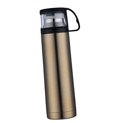 Thermal Stainless Steel Vacuum Insulated Flask Bottle Travel Cup 500ml Gold
