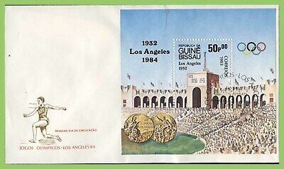 Guinea Bissau 1984 Los Angeles Olympics m/s First Day Cover