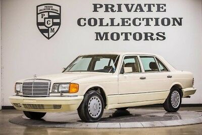 1986 Mercedes-Benz 400-Series Base Sedan 4-Door 1986 Mercedes Benz 420SEL Well Kept Rare Color Super Clean