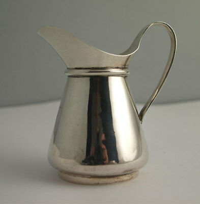 Elegant Small Solid Silver Cream Jug - 80g - Chester 1901