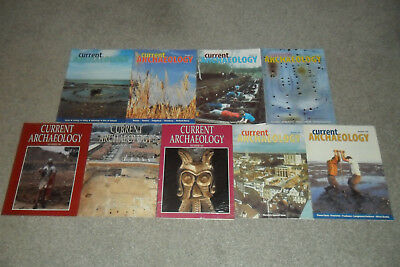 9 Issues Of CURRENT ARCHAEOLOGY Magazine 1998 - 2001