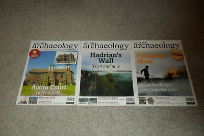 3 Issues Of CURRENT ARCHAEOLOGY Magazine From 2008-09