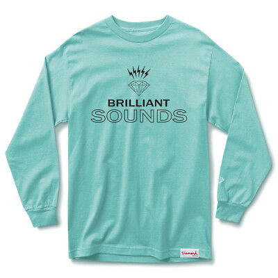 "Diamond Supply ""Records"" Long Sleeve Tee (Diamond Blue) Men's Graphic Shirt"