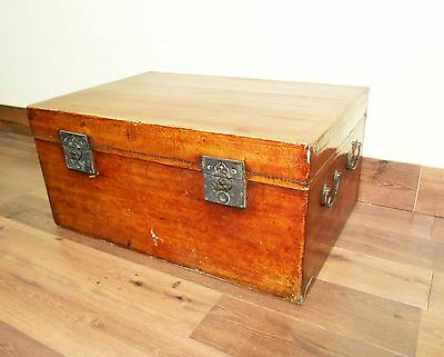 Antique Chinese Leather Trunk (5528), Circa 1849-1850