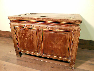 Antique Chinese Treasure Trunk (5371), Zelkova wood, Circa 1800-1849