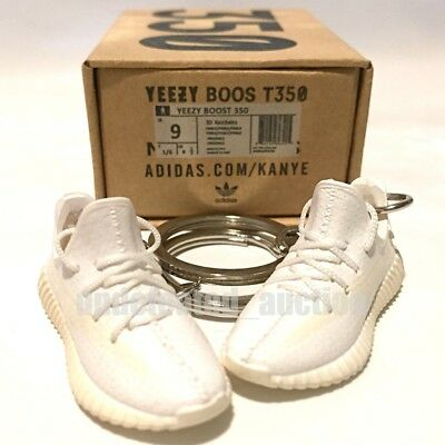 d4453849c Yeezy Boost 350 V2 Cream White Kanye Sneakers 3D Keychain Shoes Box Figure 1  6